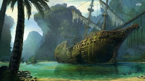 Fantasy wallpaper called Pirate Ship