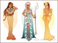 Pocahontas, Kida and Jane - disney-extended-princess fan art
