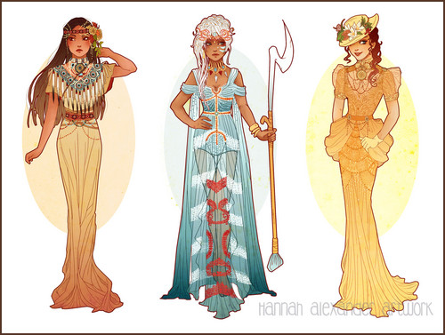 disney Extended Princess wallpaper called Pocahontas, Kida and Jane