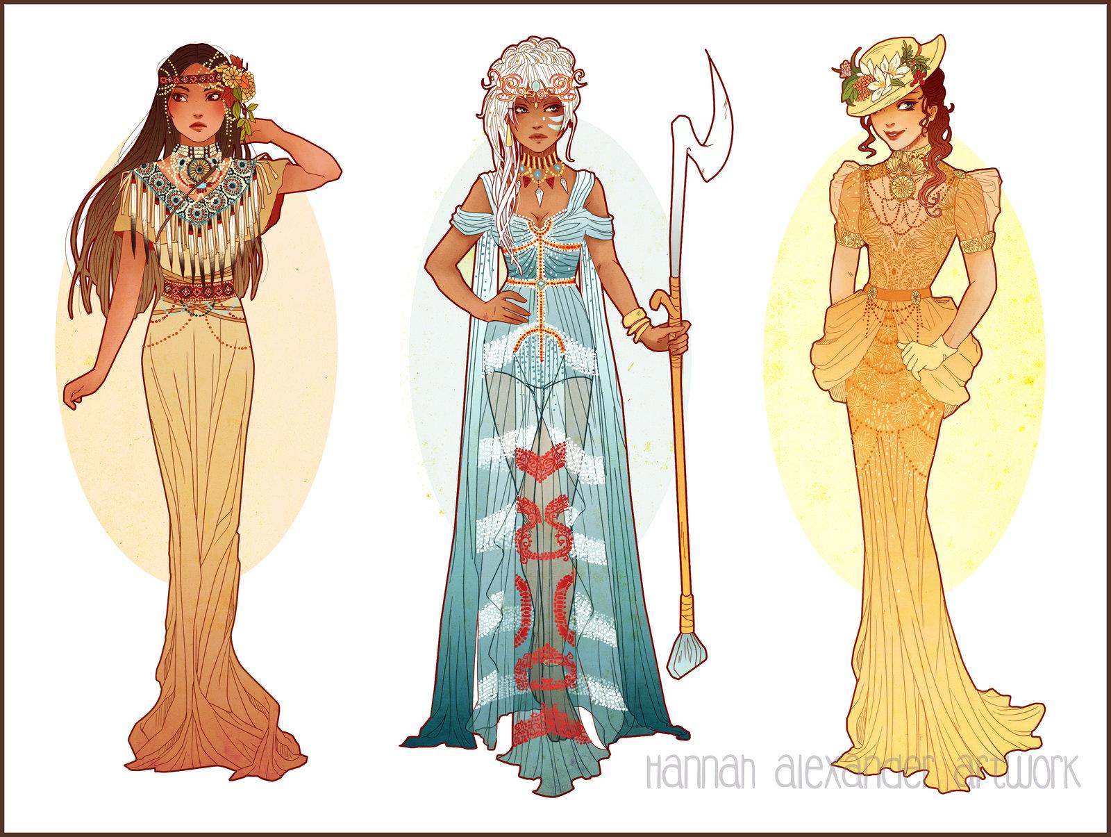 Pocahontas, Kida and Jane