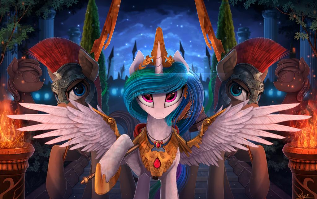 Princess-Celestia-and-her-Guards-my-litt