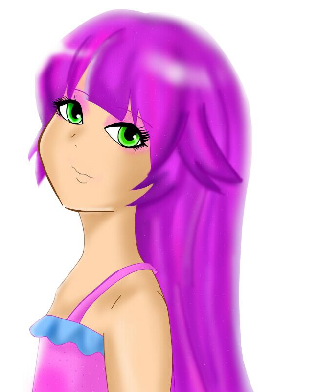 Princess Malucia with hair down