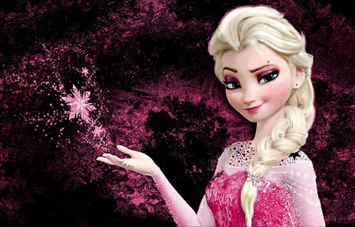 La Reine des Neiges fond d'écran entitled Punk rose Elsa