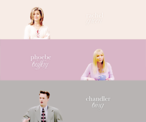 Rachel, Phoebe and Chandler