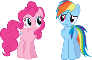arc en ciel Dash & Pinkie Pie