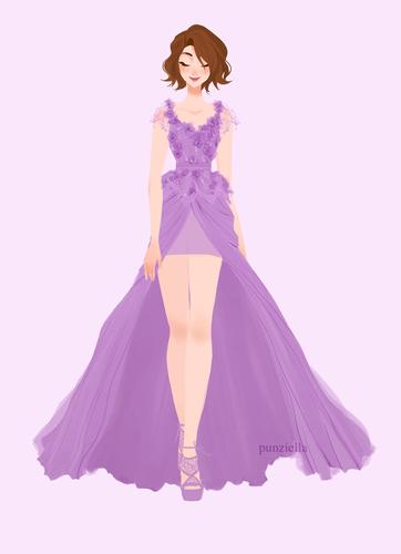ডিজনি Extended Princess দেওয়ালপত্র called Rapunzel