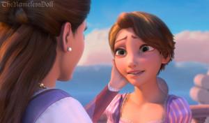 Rapunzel with shorter hair