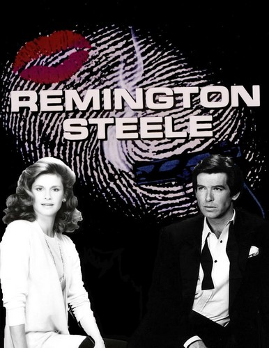 Remington Steele karatasi la kupamba ukuta containing a business suit entitled Remington Steele
