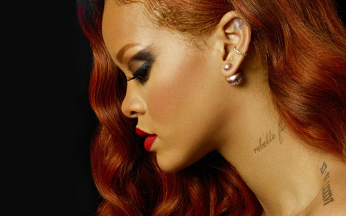 Rihanna wallpaper containing a portrait called Rihanna collab with Stance