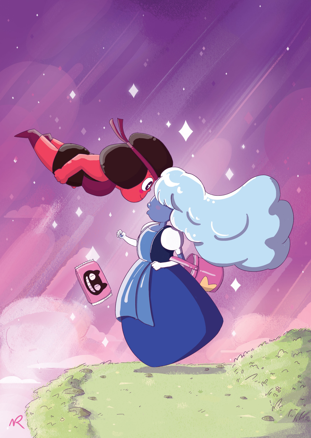 steven universe images Ruby and Sapphire ft. Cookie Cat HD wallpaper and background photos