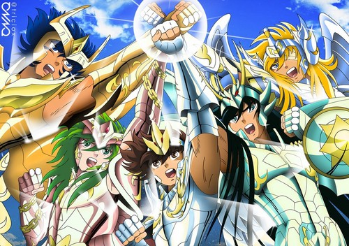 Saint Seiya (Knights of the Zodiac) kertas dinding containing Anime titled Saint Seiya Hades Arc Divino Saints