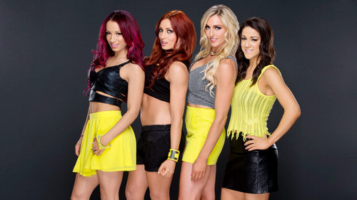 wwe divas fondo de pantalla probably containing pantalones calientes called Sasha Banks,Becky Lynch,Charlotte,Bayley