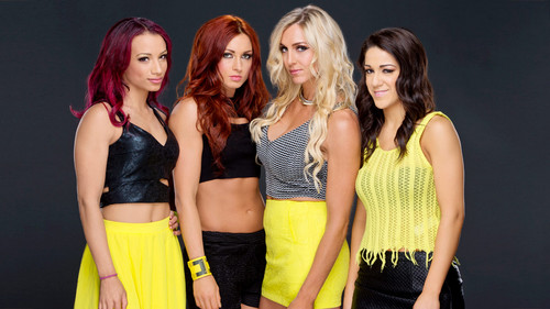 WWE Divas wallpaper probably with a cocktail dress entitled Sasha Banks,Becky Lynch,Charlotte,Bayley
