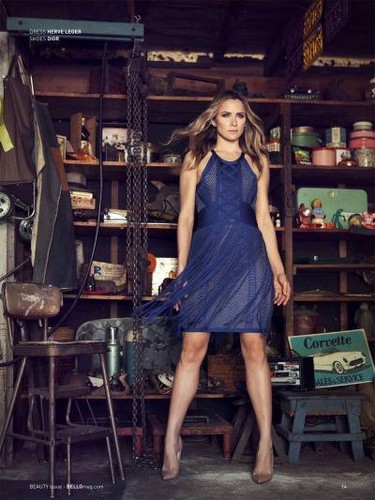 Shantel VanSanten karatasi la kupamba ukuta probably with a hip boot, a playsuit, and an outerwear called Shantel VanSanten for Bello Magazine June 2015
