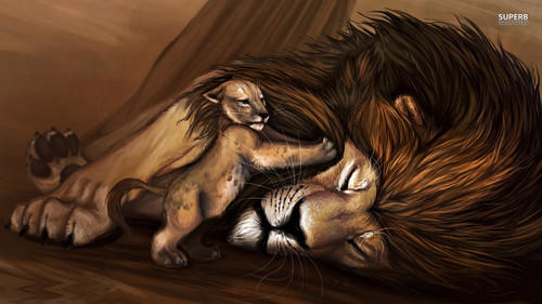 The Lion King wallpaper called Simba and Mufasa