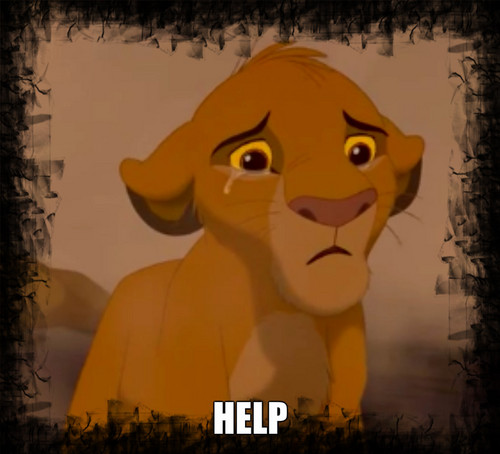The Lion King wallpaper entitled Simba crying
