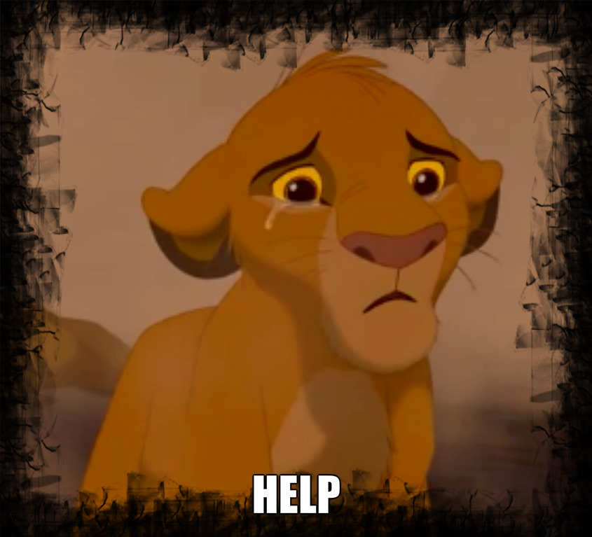 Simba crying