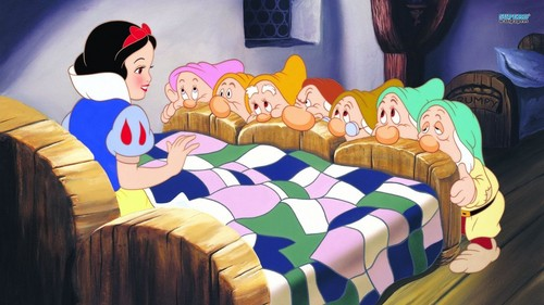 Classic Disney wallpaper titled Snow White and the Seven Dwarfs