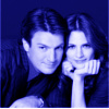 Nathan Fillion & Stana Katic foto possibly containing a portrait titled Stana and Nathan