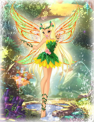Winx Club fond d'écran possibly with a bouquet and animé entitled Stella Linphix