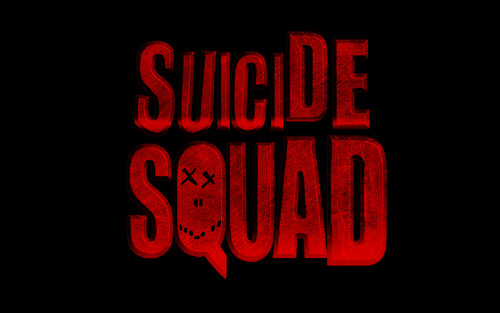 Suicide Squad kertas dinding probably containing Anime called Suicide Squad Logo kertas dinding