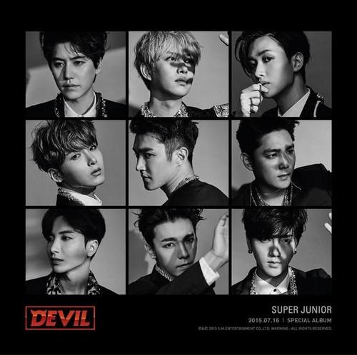 "Super Junior Обои titled Super Junior Unveils Teasers for 10th Anniversary Special Album ""Devil"""