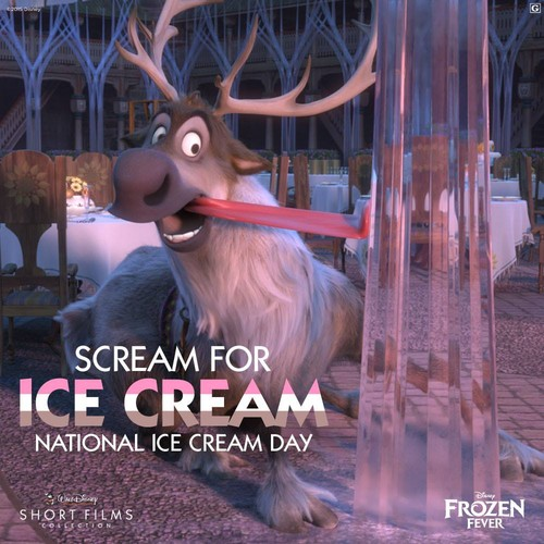 Frozen achtergrond entitled Sven