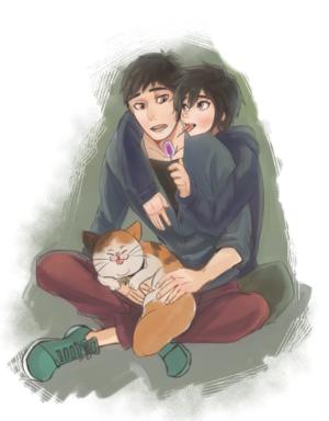 Tadashi, Hiro and Mochi