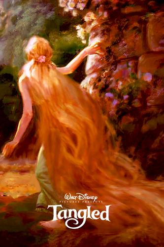 công chúa Rapunzel (Công chúa tóc mây) hình nền entitled Công chúa tóc mây Concept Art Poster