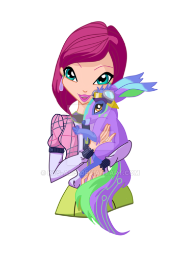Winx Club hình nền entitled Tecna and Fritter
