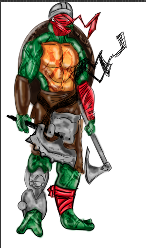 Teenage Mutant Viking Turtles Raphael