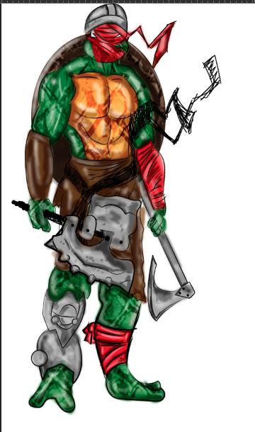 Teenage Mutant Viking Turtles Raphael Teenage Mutant Ninja