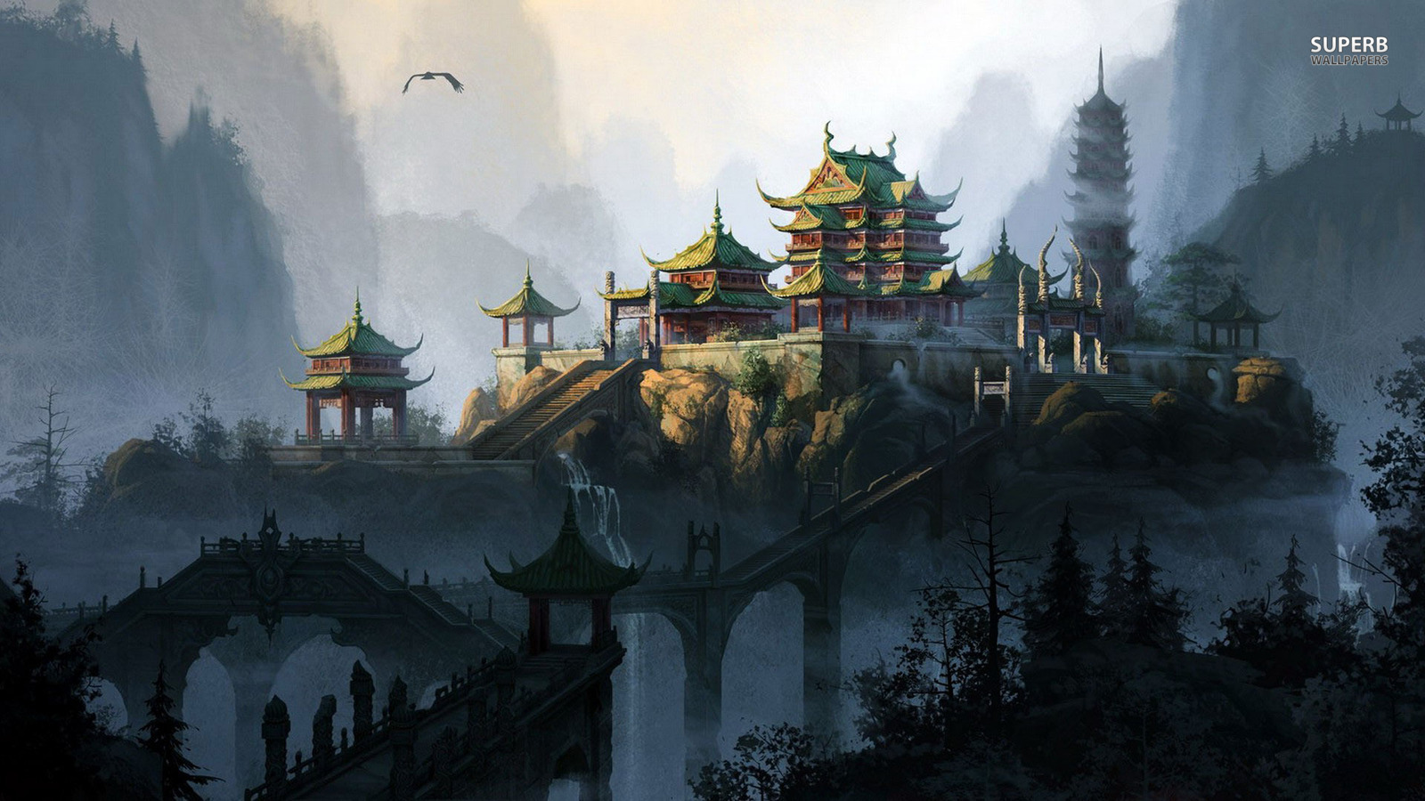 Fantasy Images Temple HD Wallpaper And Background Photos