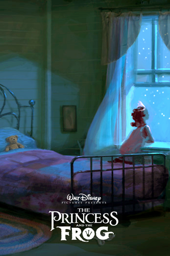 The Princess and the Frog wallpaper titled The Princess and the Frog Concept Art Poster