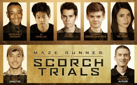 The Maze Runner پیپر وال entitled The Scorch trials Cast at Comic con
