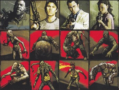 left 4 dead 2 wallpaper with anime entitled The Survivors and Special Infected