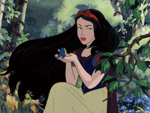 Princesses Disney fond d'écran entitled fan Art -The Young Evil Queen as Snow White