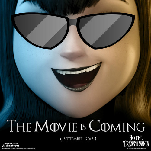 Hotel Transylvania Обои containing sunglasses entitled The movie is coming
