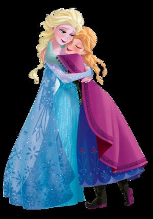 Transparent Anna and Elsa