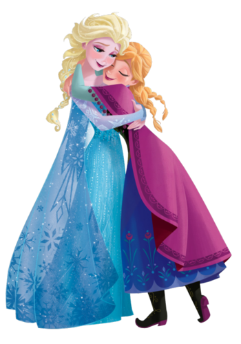 Frozen wallpaper possibly with a kirtle titled Transparent Elsa and Anna