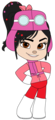Vanellope Pitstop with Helmet and Scarf - vanellope-von-schweetz fan art