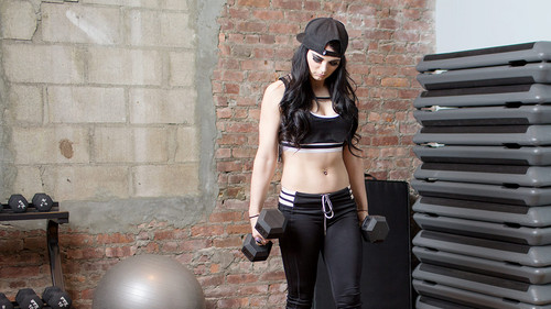 WWE Divas achtergrond probably containing a hip boot, a legging, and a pantleg entitled WWE Body Series - Paige