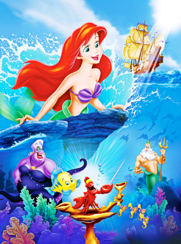 Walt Disney Characters wallpaper possibly containing anime titled Walt Disney Posters - The Little Mermaid