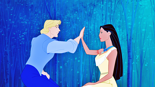 Walt Disney Characters wallpaper titled Walt Disney Screencaps - Captain John Smith & Pocahontas