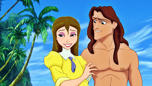 Walt 디즈니 Screencaps - Jane Porter & Tarzan