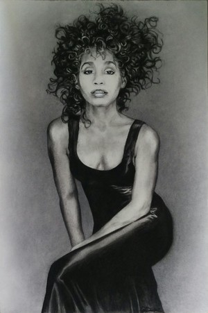 Whitney Houston Drawing