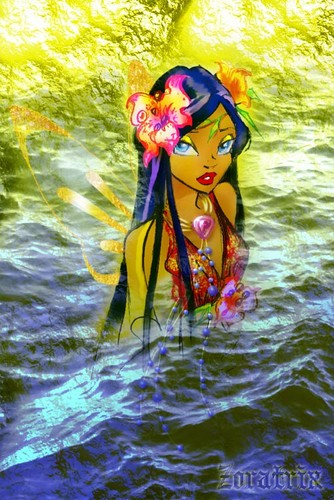 ang winx klub wolpeyper probably with a snorkel called Winx mga sirena (Kalia)