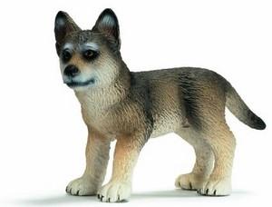 狼, オオカミ pup figure