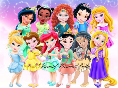Disney-Prinzessin Hintergrund entitled Young Princesses