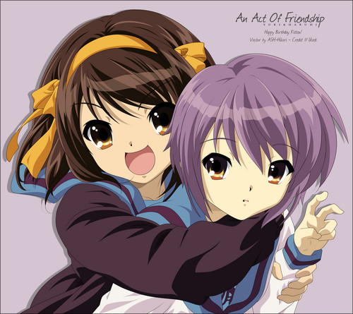 Yuki Nagato wallpaper possibly with animê entitled Yuki and Haruhi